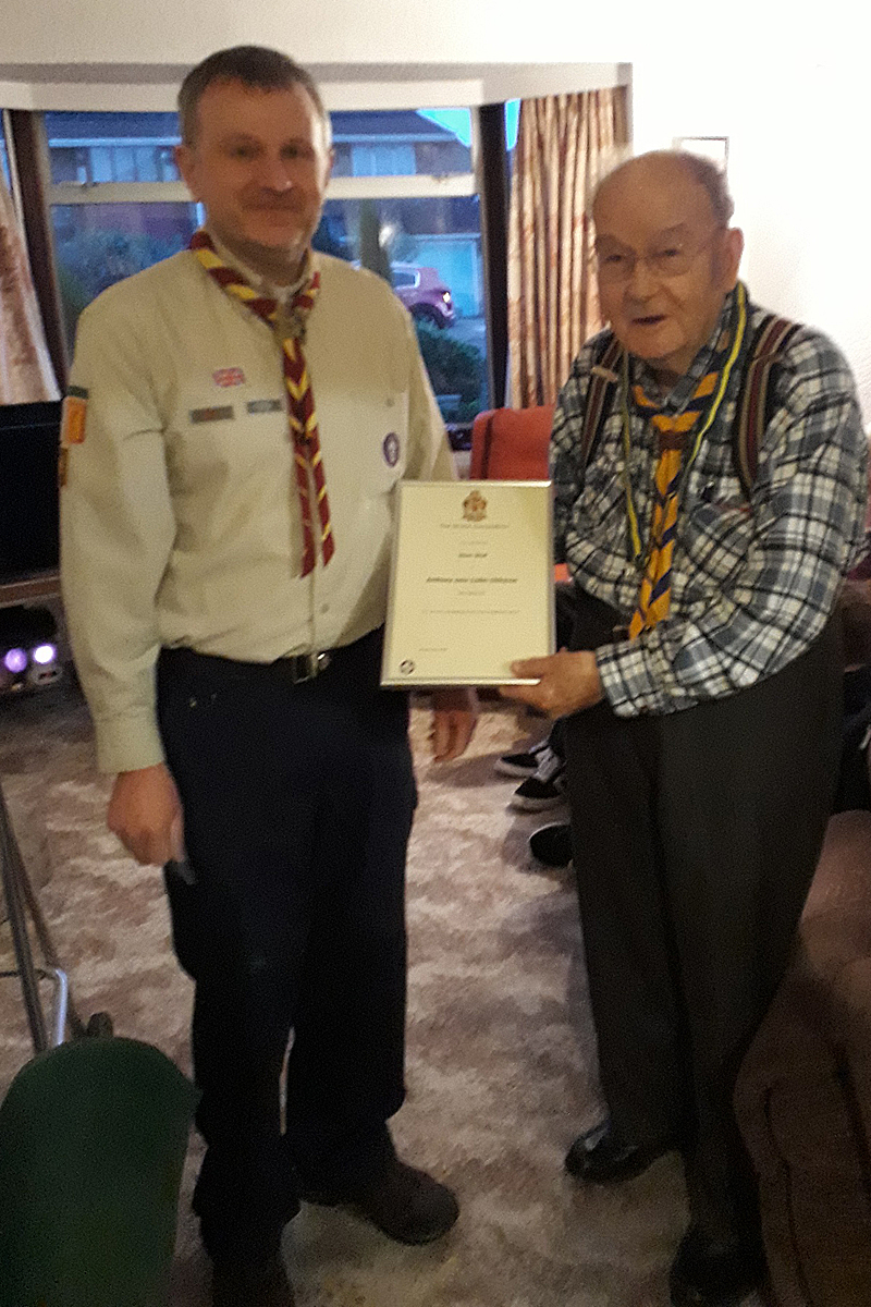 Top Scouting Award For Tony Clitheroe