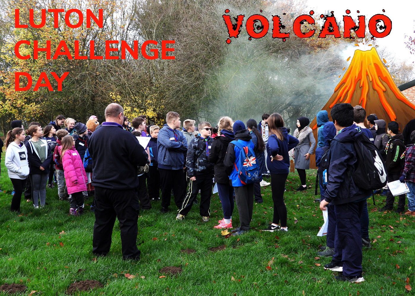 Luton Scouts Save the World from VOLCANO….