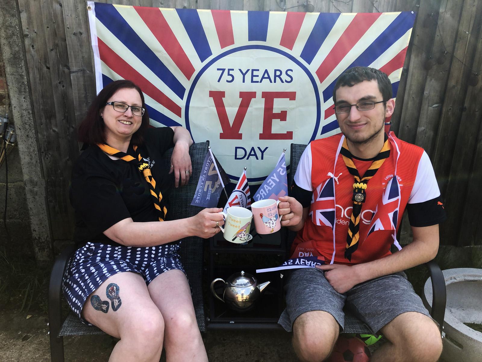 Luton Scout 75th VE Celebrations