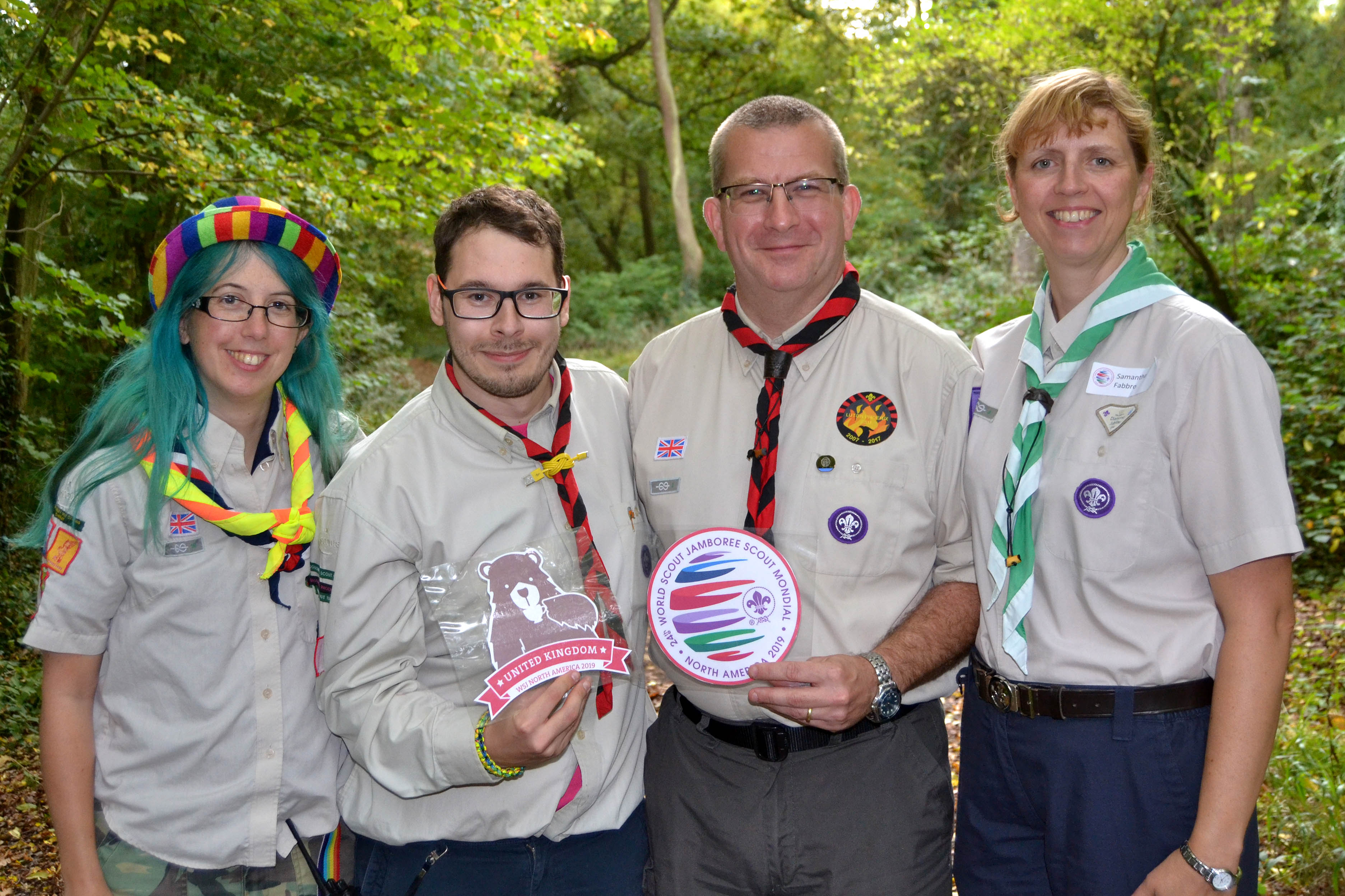 Beds Jamboree Leaders take centre stage