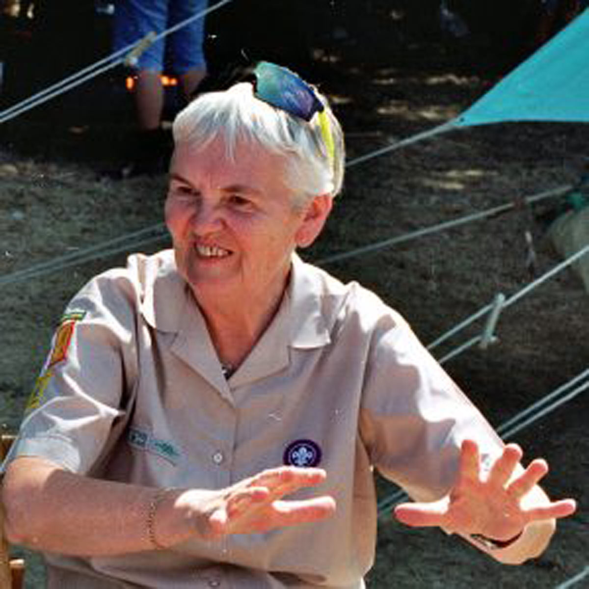 Cyn Sutherst, Long Serving Scout Shop Manager Awarded a Silver Wolf.