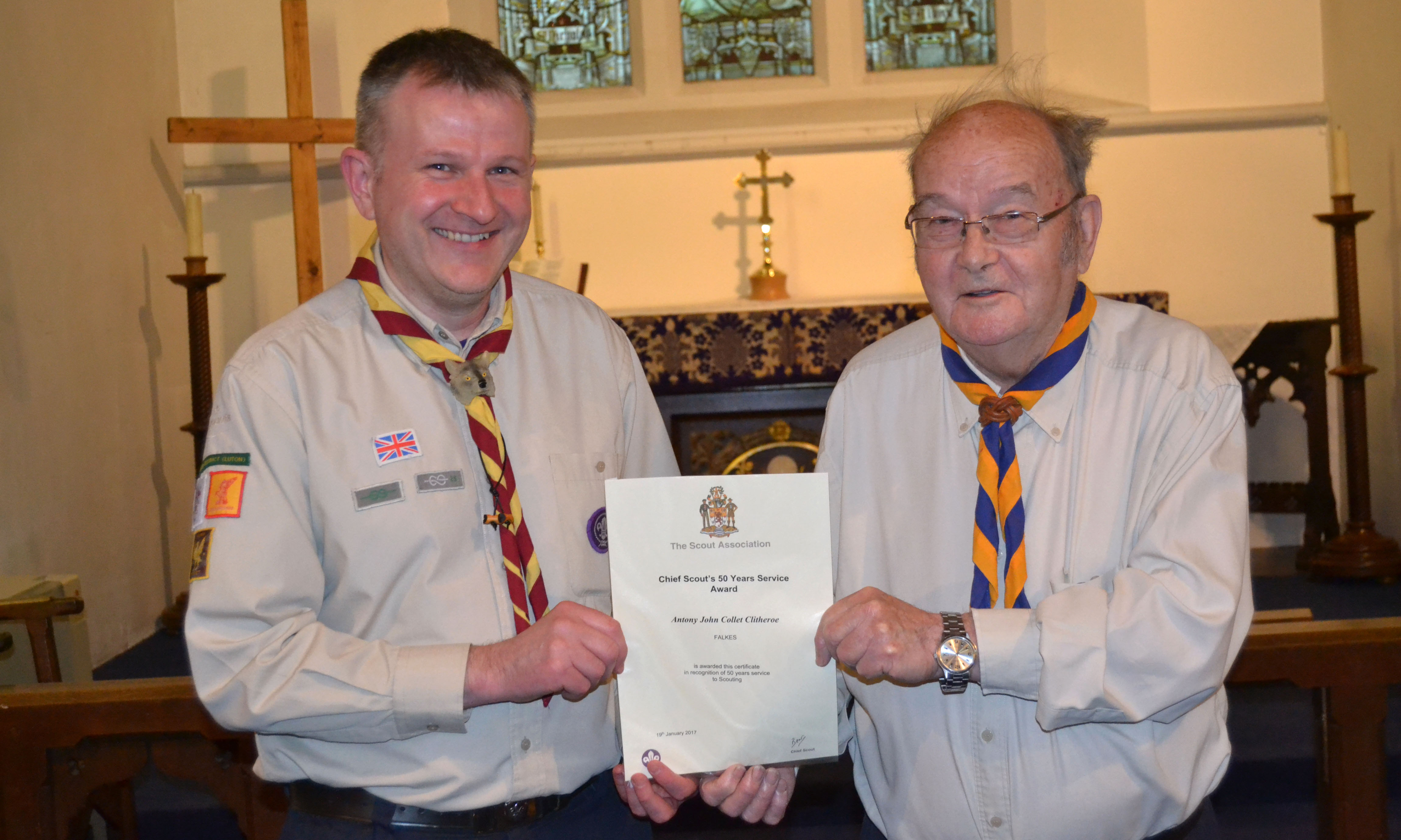 310 years of voluntary service to Luton Scouts rewarded