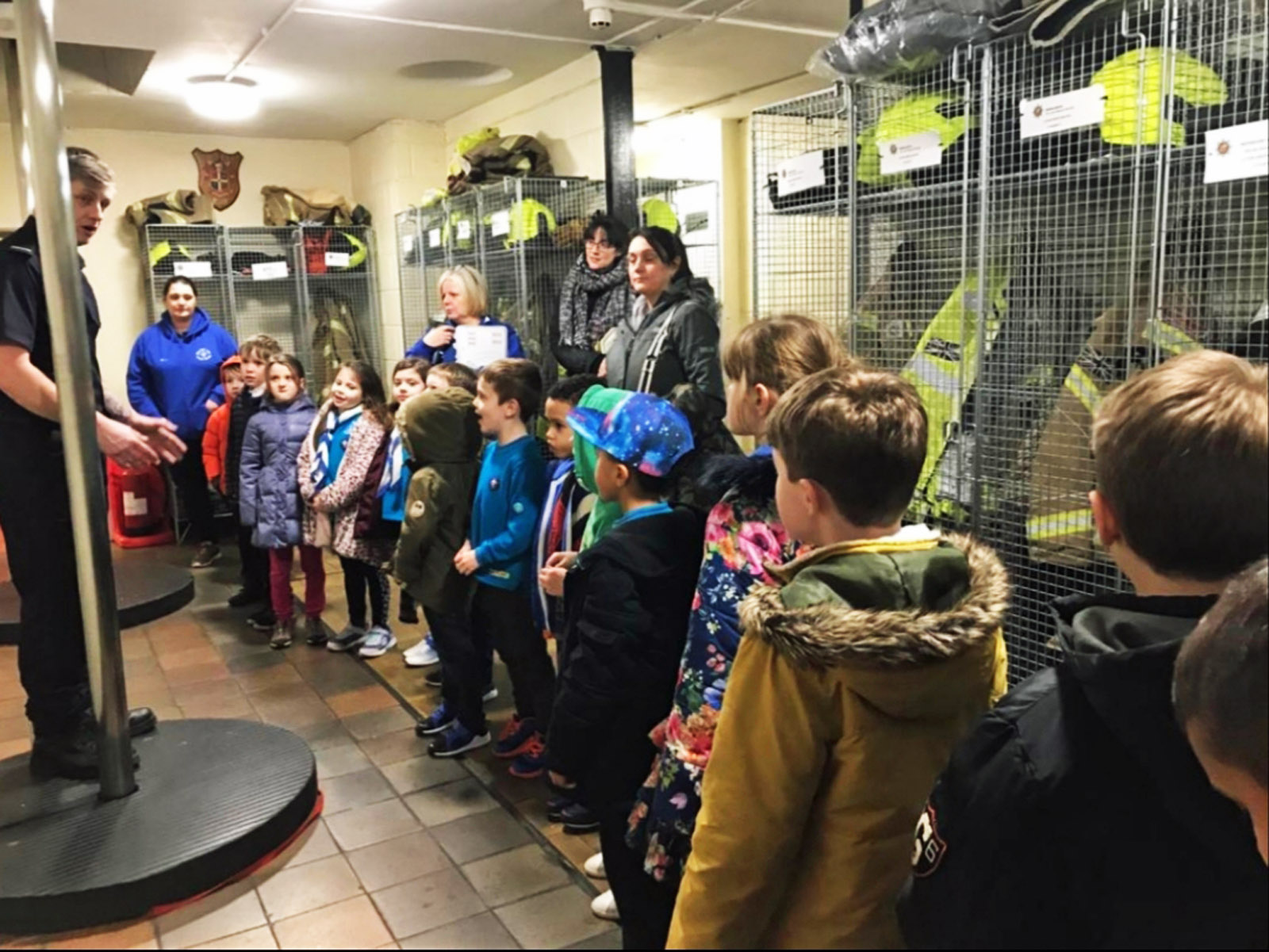 Young Scouts Experience Fire Station