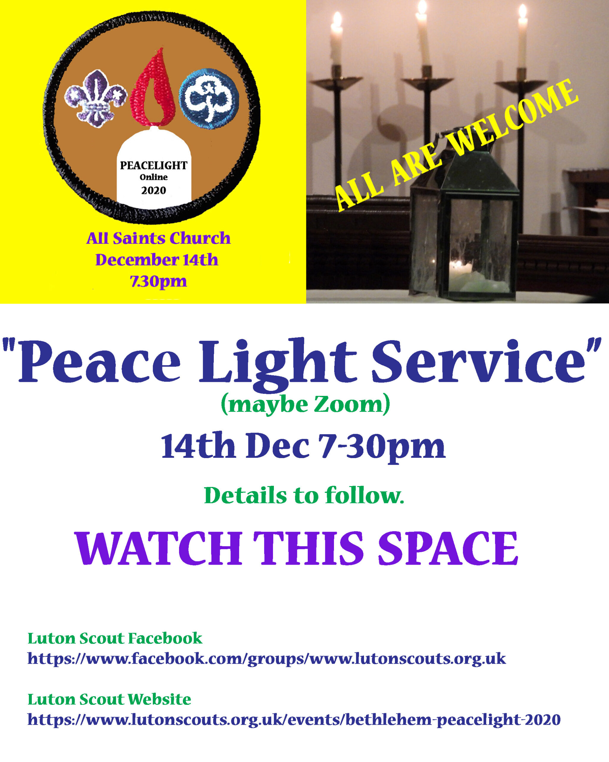 """""""Peace Light Service"""" On Line (Watch This Space"""""""